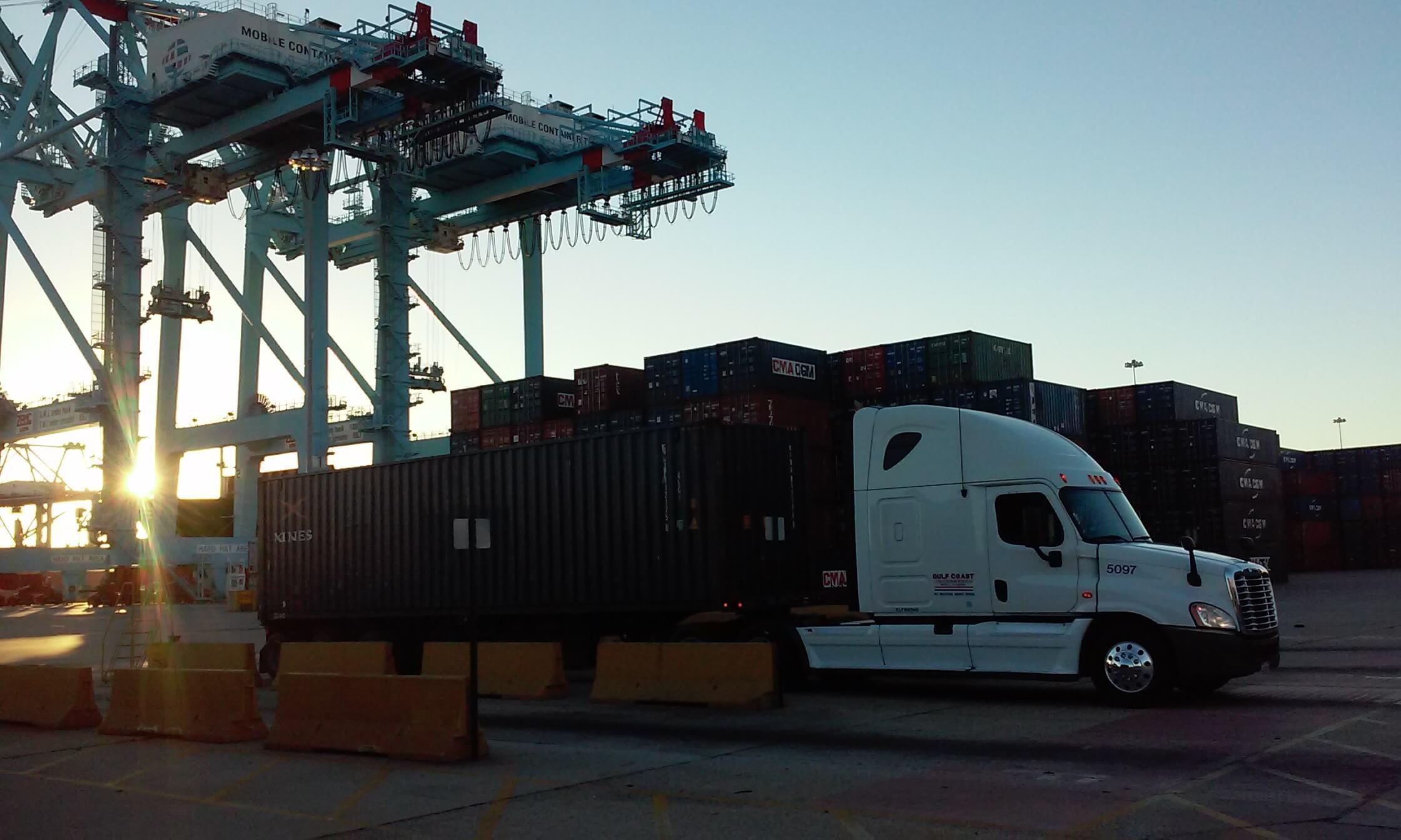 Gulf Coast Intermodal Truck Loading at the Dock